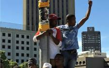 Supporters of ANC president Cyril Ramaphosa gathered at the Grand Parade in Cape Town at the launch of the party's centennial celebrations in honour of former late president Nelson Mandela, on 11 February 2018. Picture: Picture: Betram Malgas/EWN