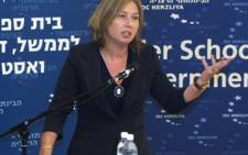 Israel's former Foreign Affairs Minister Tzipi Livni. Picture: AFP.