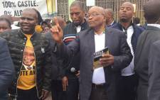 Former President Jacob Zuma on the campaign trail for the ANC in the eThekwini region of KwaZulu-Natal on 19 November 2018. Picture: @MYANC/Twitter