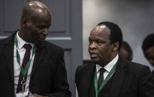 Daniel Mantsha and Muzi Sikhakhane, both representing former President Jacob Zuma, at the state capture commission on 17 July 2019. Picture: Abigail Javier/EWN.