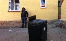 FILE: Scenes of violent protest at Dube hostel in Soweto. Picture: EWN.