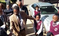 Gauteng Education MEC Panyaza Lesufi opened renovated toilets at Malerato Primary School in Randfontein on Friday 6 November 2015. Picture: @EducationGP via Twitter.