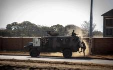 A military vehicle is seen during election protests in Zimbabwe on 1 August 2018. Picture: Thomas Holder/EWN.