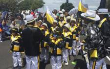 Young troupes getting ready to march through Cape Town's streets. Picture: Natalie Malgas/EWN.