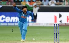 India's Kedar Jadhav celebrates taking a wicket during the Asia Cup match against Pakistan on 19 September 2018. Picture: @ICC/Twitter