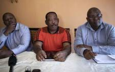 Lungelo, Stephen and Norman; the grandsons of the late chief Albert Luthuli. Picture: Abigail Javier/EWN