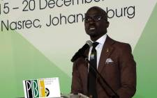 FILE: Finance Minister Malusi Gigaba during the PGF Breakfast at Nasrec on 16 December 2017. Picture: Louise McAuliffe/EWN