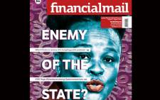 The Financial Mail's cover page featuring Public Protector Busisiwe Mkhwebane. Picture: @FinancialMail/Twitter.