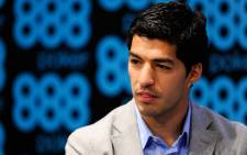 Uruguay striker Luis Suarez has had his sponsorship deal with 888 Poker terminated. Picture: Facebook.com