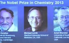 Martin Karplus, Michael Levitt and Arieh Warshel have won 2013's Nobel Prize in chemistry. Picture: AFP