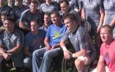 The All Blacks meets SA Rugby legend Joost van der Westhuizen.  Picture: www.allblacks.com