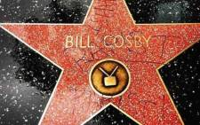 Bill Cosby's star on Hollywood's Walk of Fame was vandalised with the word 'rapist' in December 2014. Picture: Via Tunji Akinduro Instagram.
