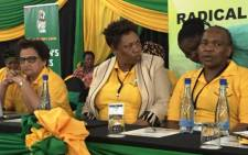 ANCWL leadership Jessie Duarte, Angie Motshekga and Sisi Tholashe during the league's National Policy Conference on 15 December. Picture: Twitter via @BeMolewa.
