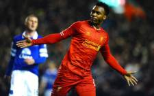 Liverpool forward Daniel Sturridge celebrates his goal against Everton in the English Premier League on 28 January 2014. Picture: Facebook.com.