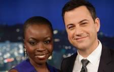 Jimmy Kimmel and Danai Gurira on Jimmy Kimmel's late-night show. Picture: Facebook.