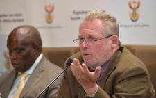 Rob Davies addressing the media and the public on government's decision on the African Growth and Opportunity Act (AGOA) on 4 January 2016. Picture: GCIS.