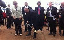 President Jacob Zuma and Western Cape Premier Helen Zille attended the launch of the industrial development zone. Picture: Siyabonga Sesant/EWN
