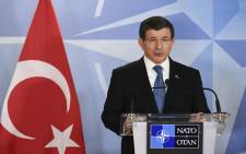 Turkey Prime minister Ahmed Davutoglu gives a press conference after a bilateral meeting at the NATO headquarters in Brussels on 7 March, 2016. Picture: AFP.