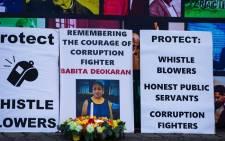 Premier David Makhura joined civil society organisations for a candlelight ceremony on 26 August 2021 in memory of slain Gauteng health senior official & corruption fighter, Babita Deokaran. Picture: @GautengProvince/Twitter.