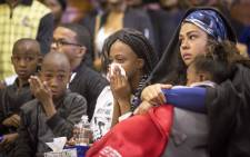 Members of Karabo Mokoena's family attend her memorial at the Diepkloof Hall in Soweto. Picture: Thomas Holder/EWN