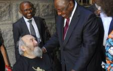 Denis Goldberg and President Ramaphosa. Picture: Nelson Mandela Foundation.