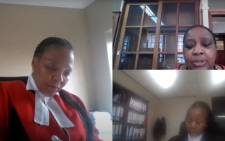 A screengrab of Zanele Buthelezi (top right) giving testimony at the Life Esidimeni inquest on 7 September 2021. Picture: Judiciary RSA/Youtube