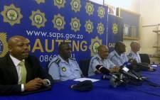 Police Commissioner Lesetja Mothiba and his team brief the media in the wake of violent Soweto protests on 23 January 2015. Picture: Alex Eliseev/EWN