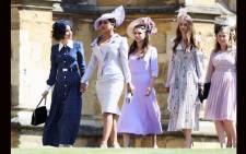 Abigail Spencer (L) and Priyanka Chopra (2L) arrive for the wedding ceremony of Britain's Prince Harry, Duke of Sussex and US actress Meghan Markle at St George's Chapel, Windsor Castle in Windsor, on 19 May 2018. Picture: Chris Jackson/POOL/AFP