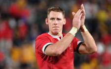 Wales full-back Liam Williams reacts after winning the 2019 Rugby World Cup Pool D match between Australia and Wales at the Tokyo Stadium in Tokyo on 29 September 2019. Picture: AFP
