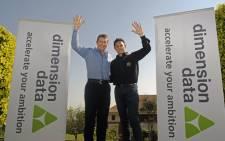 Dimension Data CEO Brett Dawson and Doug Ryder. Picture: Dimension Data.