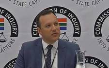 A screengrab of Journalist Adriaan Basson testifying at the Zondo Commission of Inquiry into State Capture. Picture: YouTube.