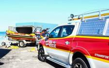 FILE: Rescue vehicles on scene where a young man died after attempting to save a 13-year-old girl from drowning. Picture: NSRI