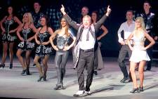 Michael Flatley joined the cast of Lord of the Dance 'Dangerous Games' for finale. Picture: Louise McAuliffe