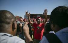 EFF leader Julius Malema arriving at the red berets' May Day rally in Alexandra on 1 May 2019. Picture: Sethembiso Zulu/EWN.