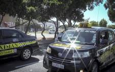 Metered taxi drivers marched through the Cape Town CBD on Thursday in protest against app-based service Uber. Picture: Thandiswa Twecu