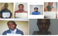 The six escapees who are still at large after escaping from the Elliot police station on Thursday, 1 October 2020. Picture: @SAPservice/Twitter.