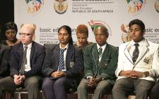 South Africa's top performing matric pupils were honoured at the announcement of the 2014 national and provincial matric pass rate results. Picture: Reinart Toerien/EWN.