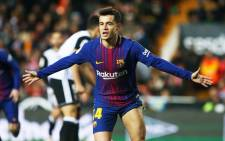 Barcelona's Philippe Coutinho celebrates scoring a goal. Picture: @FCBarcelona/Twitter