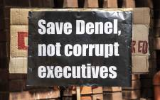 Numsa marched to the Public Enterprises Ministry in Pretoria to demand government save Denel. Picture: Abigail Javier/EWN