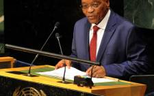 President Jacob Zuma addresses the 69th session of the United Nations General Assembly in New York on 24 September 2014. Picture: GCIS