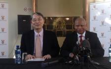 Chief Justice Mogoeng Mogoeng and the International Criminal Court's judge Sang-Hyen Song. Picture: Govan Whittles/EWN.