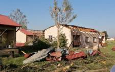 Friday night's tornado left large parts of the Watervaal Correctional Services facility, including 20 houses which were used to accommodate staff, damaged. Picture: Arrive Alive/Twitter
