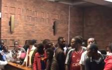 Foreign nationals appeared in the Pretoria Magistrates Court on 18 November 2019 over clashes with the police, which saw 24 officers being injured. Picture: EWN