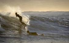 Surfers riding the popular Elands Bay on the West Coast. Picture: Aletta Gardner