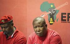 EFF leader Julius Malema briefed the media in Johannesburg on 04 February 2016 on President Jacob Zuma's claims that he will pay back some of the money spent on upgrades to his Nkandla homestead. Picture: Christa Eybers/EWN.