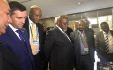 Minister of Mineral Resources Gwede Mantashe has meet with his Russian counterpart, Dmitry Kobylkin, Minister of Natural Resources & Environment of the Russian Federation. The meeting formed part of the 3rd South Africa-Russia Platinum Group Metals Conference. Picture: GCIS