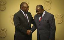 President Cyril Ramaphosa and Finance Minister Tito Mboweni. Picture: EWN.