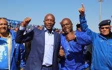 FILE: DA leader Mmuis Maimane alongside Tshwane mayoral candidate Solly Msimanga. Picture: Christa Eybers EWN