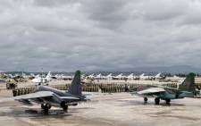 FILE: Russian warplanes. Picture: AFP/Russian Defence Ministry