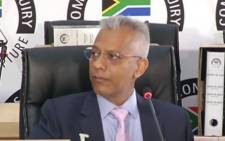 SABC YouTube screenshot of former Transnet CFO Anoj Singh during his appearance at the Zondo Commission of Inquiry into State Capture on Friday, 12 March 2021.